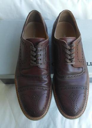 Мужские кожаные туфли carlo pazolini броги оксфорды