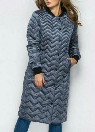 Шикарное удлинённое пальто,бомпер, люкс качество, размер с/ м.
