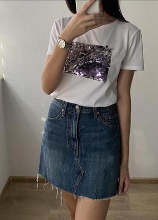 Джинсовая юбка levis