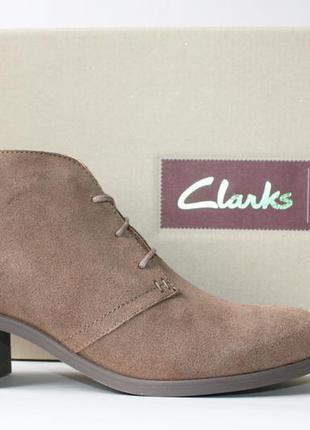 Ботинки clarks оригинал. натуральная замша. 36-42