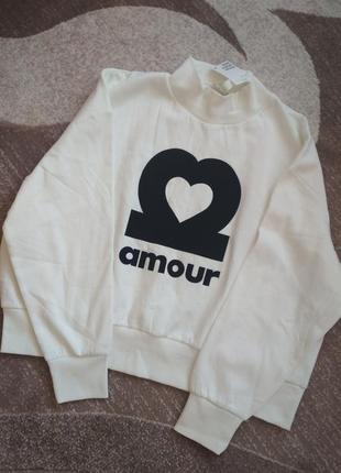 Крутезний укорочений свитшот худи светр кофта пуловер