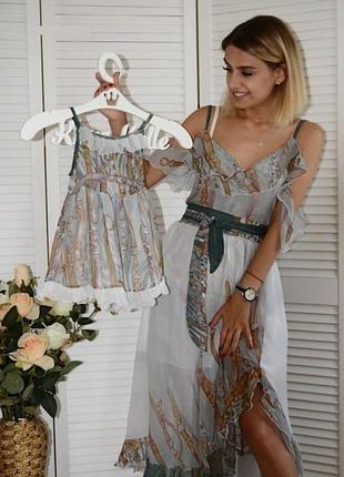 Платье family look