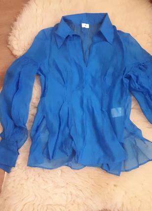 Роскошная блуза от h&m роскошного небесно-голубого цвета!