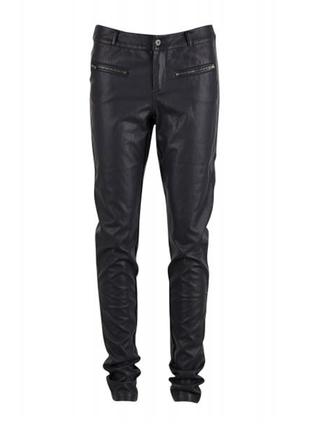 Saint tropez черные кожные штаны, брюки кожзам. размер 34 xs-s