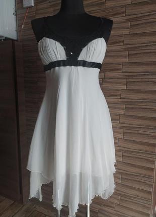 Нарядное шифоновое платье jane norman_xs,s(6),34,36 размер2 фото