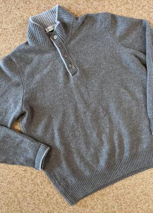 Шерстяной свитер с воротником gran sasso