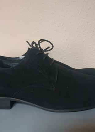 Мужские туфли натуральная замша р.42-43, на ножку 28см