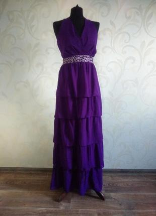 Распродажа. платье для торжеств с камнями. размер 16 (50-52)