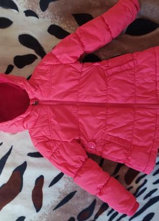 Курточка на 3 роки,дуже якісна,рожево- кораловий колір