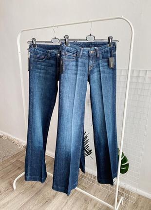 Женские джинсы палаццо трубы