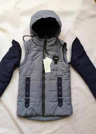 2 в 1 куртка - жилетка