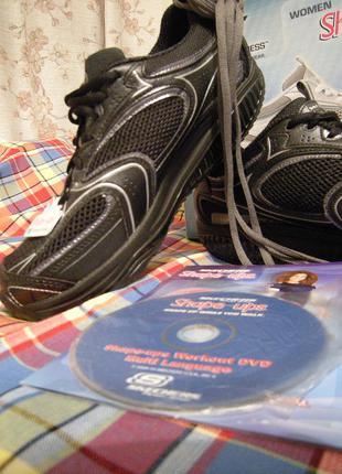 Фитнес кроссовки skechers shape ups 28см стелька