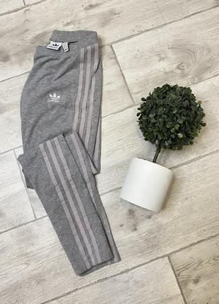 Дівчачі сірі лосини adidas