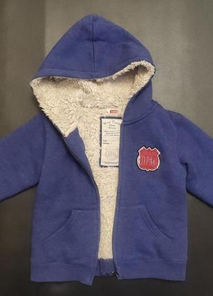 Кофта толстовка на меху курточка. на близнецов, двойню.