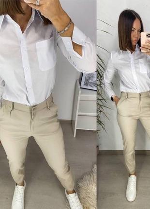 Костюм рубашка+брюки(хаки, беж, черный)