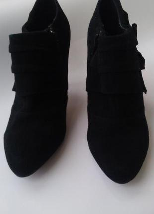Новые стильные туфли ботильоны натуральная замша 100%