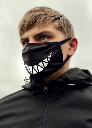 💣крутая стильная многоразовая защитная маска, улыбка, джокер💣