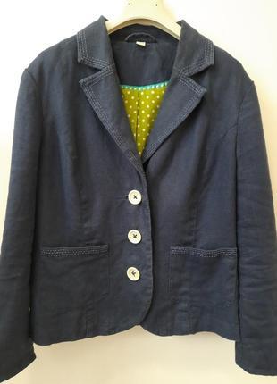 Пиджак льняной  жакет из льна