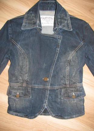 Джинсовая куртка пиджак motor jeans