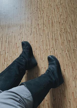 Высокие кожаные сапоги braska