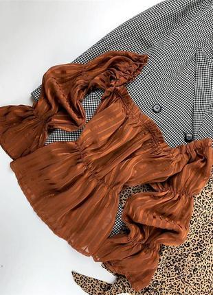Блуза коричневая
