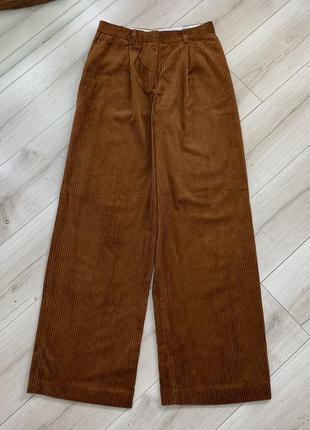 Вельветовые штаны кюлоты h&m