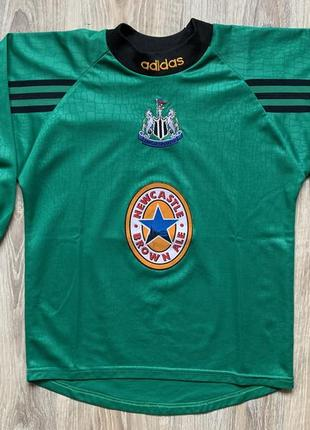 Подростковая винтажная футбольная джерси adidas newcastle united goalkeeper jersey 1997