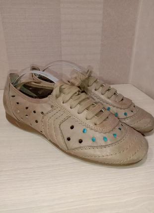 Кожаные мокасины туфли rieker