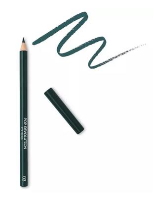 Набор kiko milano карандаш для глаз с стругалкой, темно зеленый 03 pop revolution kajal