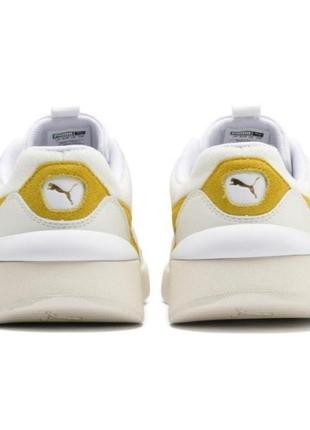 Яркие молодежные кроссовки кеды сникерсы puma желто белого цвета  оригинал!!!3 фото
