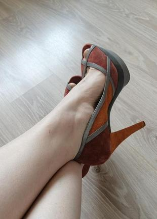 Туфли jessica simpson 10 или 40-41  замша для широкой стопы