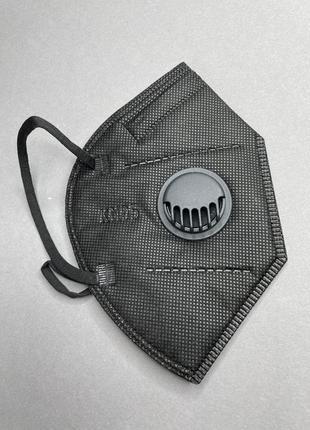 Защитная маска kn95 респиратор с угольным фильтром черная ffp2 / оригинал