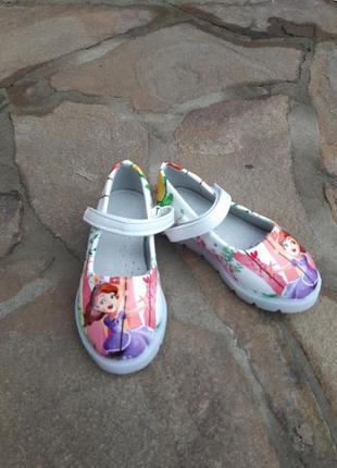 Туфли с led подсветкой, с мигалками, балетки для девочки