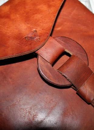 Интересная кожаная сумка ручная работа