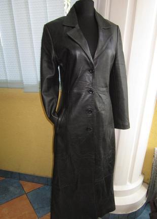 Шикарный кожаный плащ,пальто,тренч. __ tinate __ кожа! качество!!