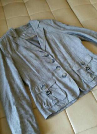 Льняной пиджак, летний, лёгкий, натуральный