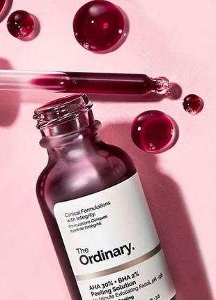 The ordinary -  peeling красный,  кровавый, кислотный пилинг - aha 30% + bha 2%