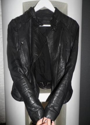Zara,шикарная куртка,нат кожа,р.с