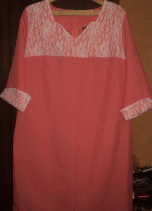 Элегантное женское платье из габардина