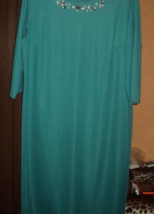 Фирменное элегантное платье украшенное вручную
