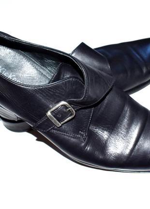 Kickers винтажные черные кожаные мужские туфли . 45 р-р