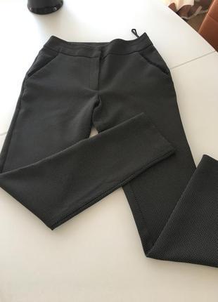 Брюки - дудочки чёрные в мелкий горошек