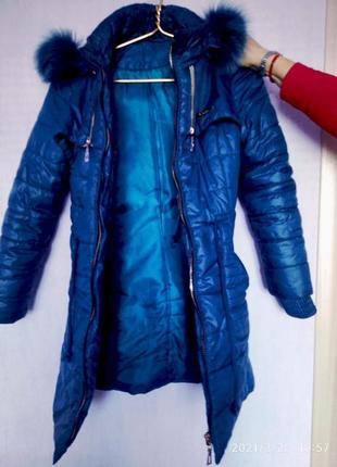 Пальто девчачье 9-12 лет