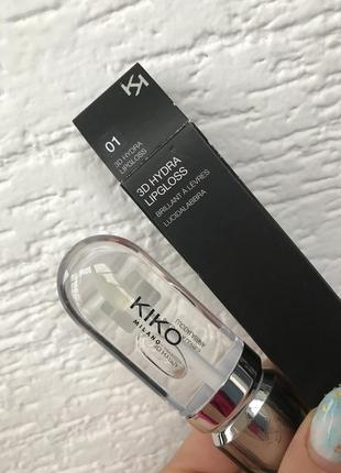 Блиск для губ із тривимірним об'ємом 3d hydra 01 kiko milano