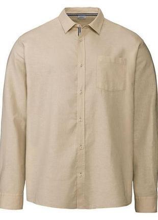Рубашка льняная мужская livergy германия размер s-m