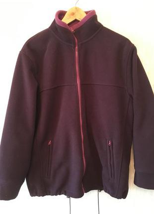 Теплая флисовая фиолетовая толстовка куртка sarah hamilton