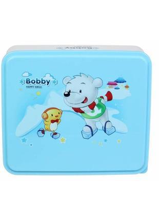 Ланч бокс bobby small голубой квадратный