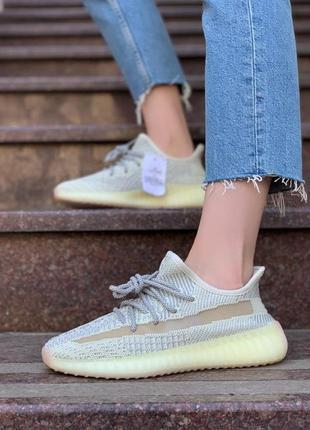 Adidas yeezy 350 ludmark 🍏 стильные женские кроссовки адидас изи 350 рефлективные