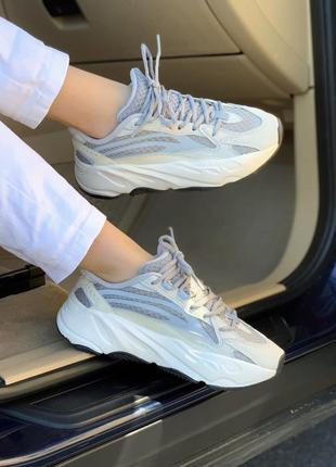 Adidas yeezy 700 static 🍏 стильные женские кроссовки адидас изи 700