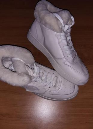 Зимние кроссовки, натуральная кожа